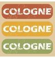 Vintage Cologne stamp set vector image vector image