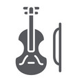 violin glyph icon music and instrument cello vector image vector image