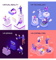 virtual reality isometric design concept vector image
