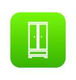 wardrobe icon digital green vector image vector image