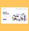 web design flat modern concept - online education vector image vector image