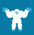 yeti guilty bigfoot surprise abominable snowman vector image vector image