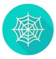 Spider Web Circle Icon vector image