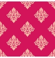 Pink and beige floral seamless pattern vector image