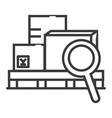 warehouse line icon sign on vector image