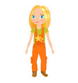 a girl in the shape of a plumber vector image vector image