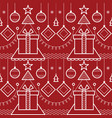 abstract christmas new year seamless pattern vector image vector image