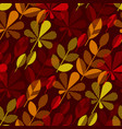 autumn leaf fall geometry motif vector image vector image