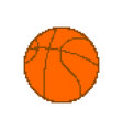 basketball pixel art pixelated ball isolated on vector image