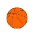 basketball pixel art pixelated ball isolated
