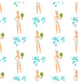 bath people body washing face seamless pattern vector image vector image