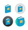 book icon on white vector image vector image