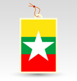 burmese made in tag vector image vector image