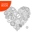 buttons collection heart shape page for your vector image