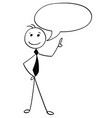 cartoon of male man with empty speech bubble vector image vector image