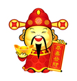chinese prosperity god vector image vector image