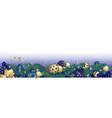 christmas garland banner vector image