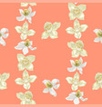 citrus and jasmine flowers in seamless pattern vector image