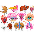 cute organs happy human set of smiling vector image vector image