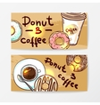 donut doodle style vector image