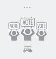 electoral supporters - web icon vector image vector image