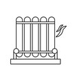 electric grill symbol vector image vector image