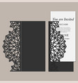 elegant golden wedding card vector image vector image