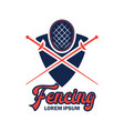 fencing logo with text space for your slogan vector image vector image