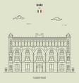fizzarotti palace in bari italy vector image vector image