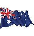 flag australia vector image vector image