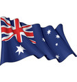 Flag of Australia vector image vector image