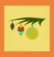 flat shading style icon christmas tree toys vector image