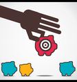 focus on big saving money concept vector image vector image