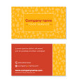 food service company business card template front vector image vector image