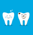 funny teeth set for kids web vector image