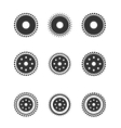 gear wheels isolated on light background vector image vector image