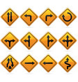 glossy diamond road arrow sign vector image