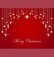 glowing silver ornaments christmas on red starburs vector image