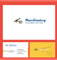 guns logo design with tagline front and back vector image vector image
