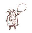 Hand Drawn Father Christmas vector image vector image