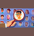 human recruitment man business man picked vector image vector image