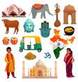 india travel set vector image