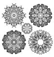 Mandala set vector image vector image
