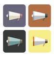megaphones icons set vector image vector image