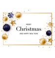 merry christmas and new year background with vector image vector image