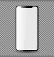mobil phone with blank screen eps10 vector image vector image