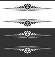 monochrome borders vector image vector image