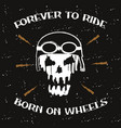 motorcycle skull vector image