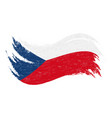 national flag of czech republic designed using vector image