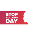 national stop bullying day holiday concept vector image vector image